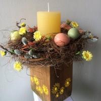 Пасхальный подсвечник, композиция на стол, пасха