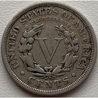 США 5 центов 1909 год СОСТОЯНИЕ