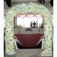 Прокат свадебных арок из цветов,чехлы и накидки на стулья в киеве