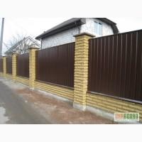 Забор из профнастила, забор из сетки рабица Киев Киевская область