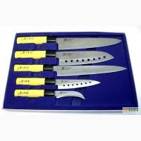 Набор из 5 сверх острых ножей Gold Sun и Идеальный набор ножей для кухни Contour Pro