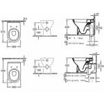Унитаз напольный консольный под инсталляцию VilleroyBoch O.Novo арт. 56571001
