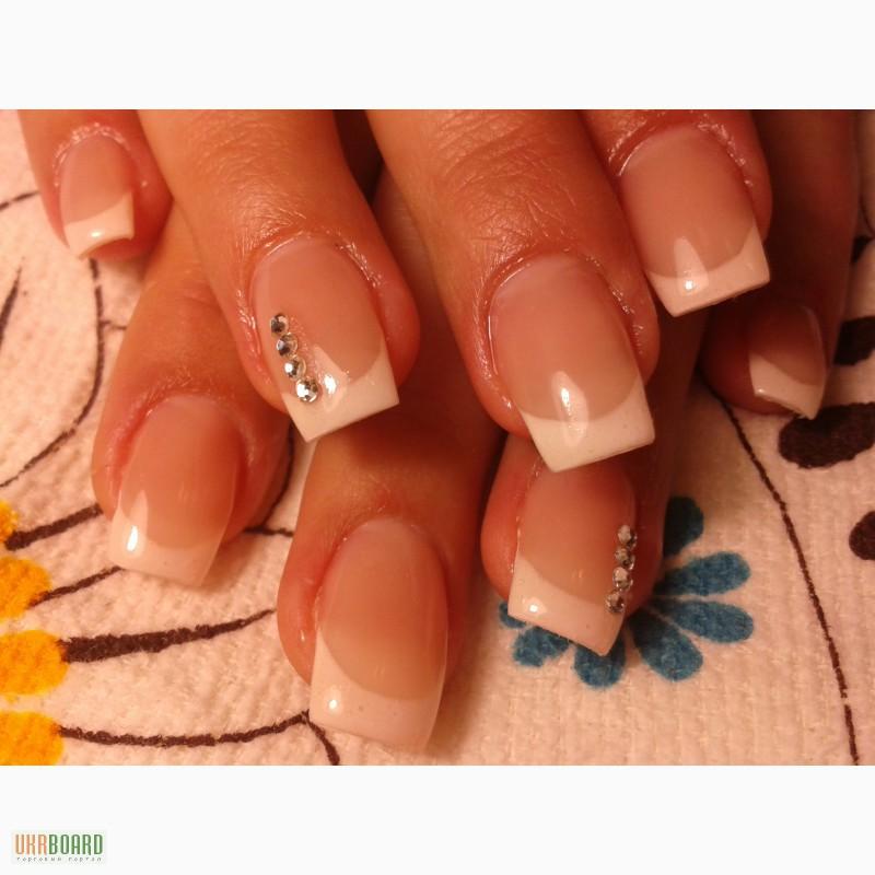 Гель на свои короткие ногти без наращивания
