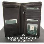 Продается роскошное мужское кожаное портмоне Big Ben от Visconti, коричневое, вертикальное