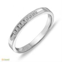 Золотое кольцо с бриллиантами 0,10 карат 17 мм. НОВОЕ (Код: 16312)