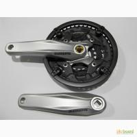 Шатуны для велосипеда /Система/ Вело шатун/ ShimanoFC-M411 44-зуба (серая и черная), 170мм