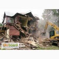 Демонтаж залізобетонних, бетонних, металевих, деревяний будівель
