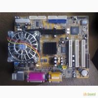 Комплект ASUS P4P800-VM Socket 478(плата+процессор+кулер )+DDR практически полный комп