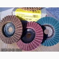 Шлифовальный лепестковый круг из скотчбрайта Klingspor SMT 800 по металлу