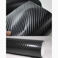 Карбоновая пленка черная 4D под лаком. Пленка под карбон для автомобиля 152см*30 см