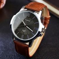 Мужские наручные кварцевые часы Yazole 332 (оригинал, quartz, чоловічий годинник)