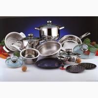 Посуда (сковородки, сотейники, кастрюли, столовые сервизы) по низким ценам с доставкой