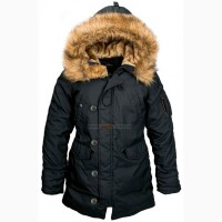 Тепла жіноча куртка аляска Altitude W Parka Alpha Industries (чорна)