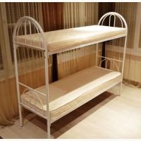 Металлическая кровать двухъярусная, кровать эконом
