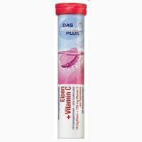 Шипучие таблетки витамины Mivolis В12, 20 шт Без добавления сахара С малиново-клубничным