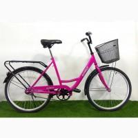 Велосипед женский с корзиной Azimut Lady F-5 26 дюймов
