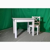 Детский стол со стульчиком в белом цвете