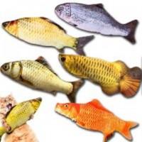 Мягкая игрушка рыба в ассортименте 20см, 40см, для кошек кота с кошачьей мятой, зоотовары
