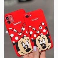 Силиконовая накладка минни маус для iPhone 7 Plus iPhone 12 Pro Max 6/6S iPhone 6 Plus/6S