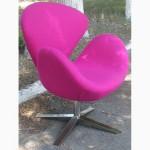 Кресла Св (Swan) зеленая, розовая, фиолетовая, красная, синяя ткань для кафе баров