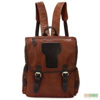 Продается большой кожаный рюкзак с отделением для ноутбука, винтаж, Casual