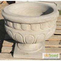 Вазон бетонный уличный, круглый, тип Римский