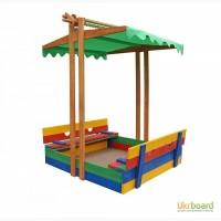 Детская песочница из дерева, цветная ( pes 10)