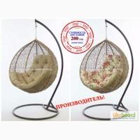 Плетеное подвесное кресло кокон