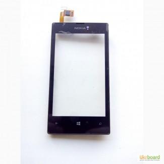 Сенсор тачскрин Nokia Lumia 520 с рамкой