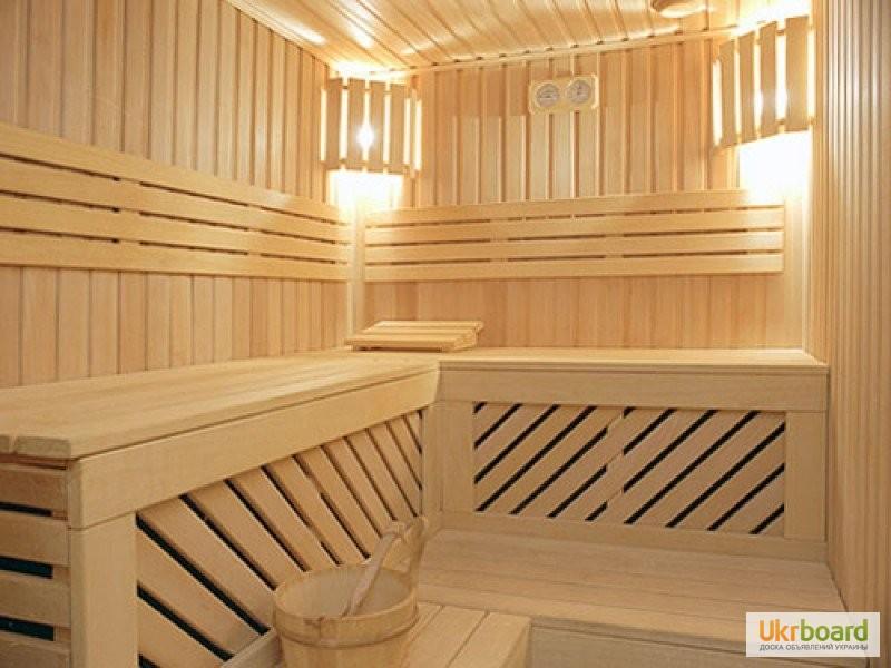 Фото до оголошення: деревянная вагонка липа в баню.Баня под ключ - Ukrboard.Kharkov