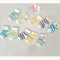 Цветные полосатые носочки для младенцев Турция