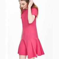 Платье розовое c воланом новое Banana Republic размер 4 состав 100% polyester