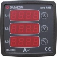 DATAKOM DA-0303 Амперметр, 170-275V, 3 фази, 72x72мм, 3 дисплея