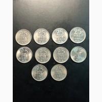 25 эре Подборка 10 монет. 1962-1972г. Швеция