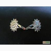 Продам золотые серьги-звезды Эрцгаммы