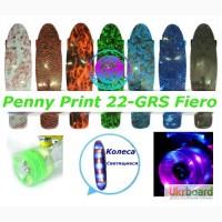 Скейт Penny Print 22-GRS Fiero пенни 56 см fish cruiser skate board светящиеся кол