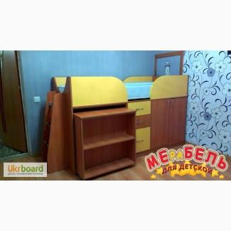 Детская кровать с выдвижным столом (д12) Merabel