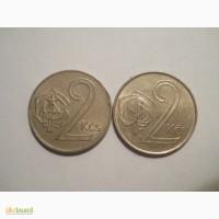 Чехословакия-2 кроны (2 разные)
