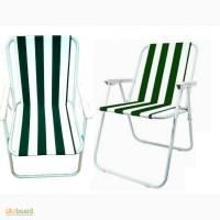 Стул со спинкой и подлокотниками для пикника, садовое кресло WELFULL