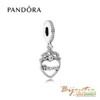 Оригинал PANDORA шарм сердце принцессы 791962CZ