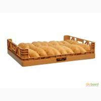 Пищевой пластиковый ящик 740х620х160 для хлеба и хлебобулочных изделий