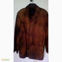 Кожаная куртка - пиджак, кожа крек, р.50-52 (новая)