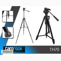 Якісний фото відео штатив для фотокамери CAMROCK - TH70