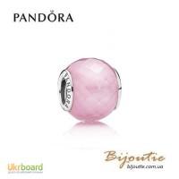 Шарм PANDORA розовый ограненный кристалл 791499PCZ