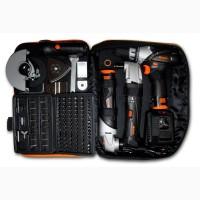 Набор аккумуляторного инструмента Vertex: шуруповёрт, болгарка, реноватор