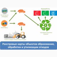 Реестровые карты объектов образования, обработки и утилизации отходов