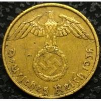 Германия 5 пфеннигов 1938 А год СВАСТИКА
