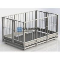 Весы для животных АКСИС 1250х1250мм 1500 кг