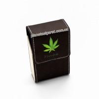 Чехол, портсигар из эко-кожи для пачки сигарет 6-0851