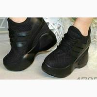 Новые женские кроссовки на танкетке черные 39 Киев